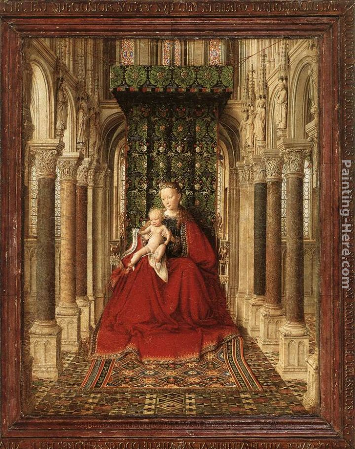 Small Triptych [detail central panel] painting - Jan van Eyck Small Triptych [detail central panel] art painting